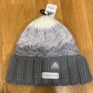 NWT adidas knit grey winter hat for women
